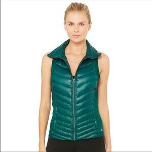 Alo Green Puffer Vest